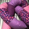 Bettschlange rosa lila Kronen