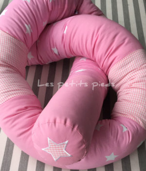 Bettschlange rosa