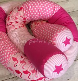 Bettschlange rosa pink Flamingo