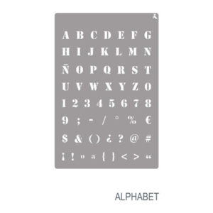 Schablone Alphabeth