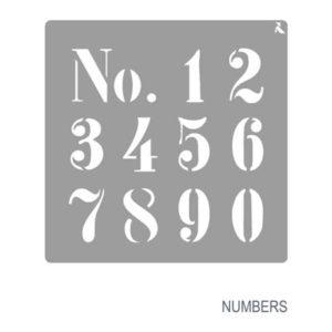 Schablone Zahlen