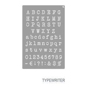 Schablone Typewriter