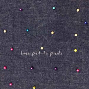 Jeans - Chambrai Perlen blau / bunt