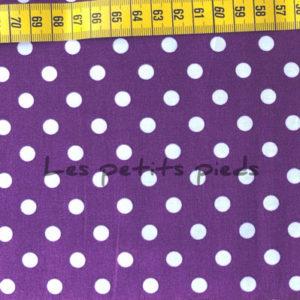 Baumwolle - Punkte lila / weiss