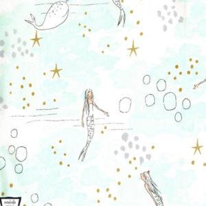 """Baumwolle - """"Meerjungfrau"""" by Sarah Jane mint"""