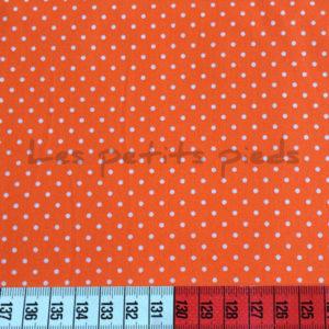 Baumwolle - Minipunkte orange