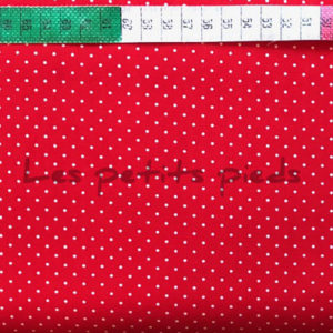 Baumwolle - Minipunkte rot