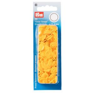 """Prym 393110 Nähfreie Druckknöpfe """"Color Snaps"""" rund gelb"""