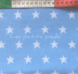 Baumwolle - Sterne 2 cm hellblau / weiss