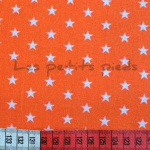 Baumwolle - Sterne orange