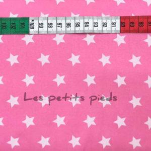 Baumwolle - Sterne rosa / weiss
