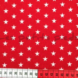 Baumwolle - Sterne rot / weiss