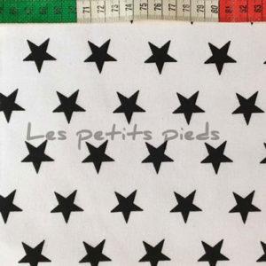 Baumwolle - Sterne weiss / schwarz