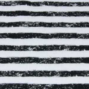 Baumwolle - Pinselstreifen weiss / schwarz