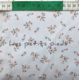 Baumwolle - Streublümchen 1 weiss