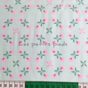 Baumwolle - Tulpen mint / rosa