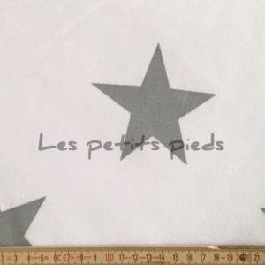 Baumwolle - Sterne XXL weiss / grau