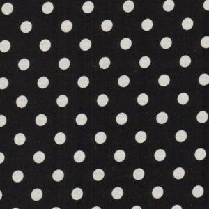 Baumwolle - Punkte schwarz / weiss