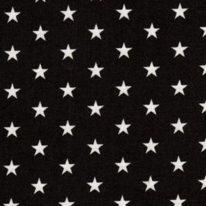 Baumwolle - Sterne schwarz / weiss