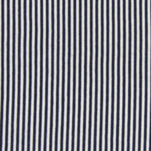 Bündchenstoff Schlauch Streifen dunkelblau weiss