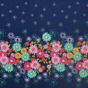 Baumwolle - Michael Miller Blumen blau / bunt
