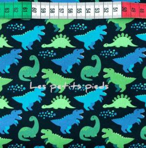 Baumwolle - Dinos dunkelblau / blau / grün