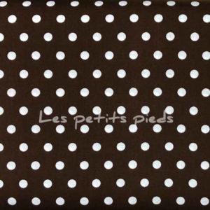 Baumwolle - Punkte dunkelbraun / weiss
