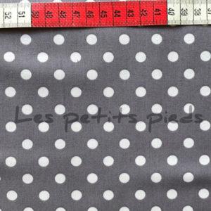 Baumwolle - Punkte dunkelgrau / weiss