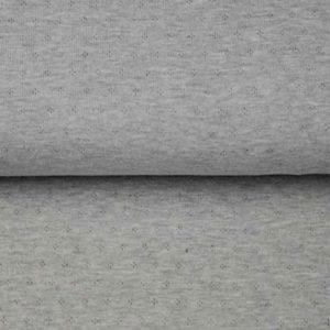 Jersey Baumwolle - Ajour hellgrau