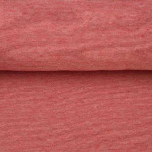 Jersey Baumwolle - feine Streifen rot