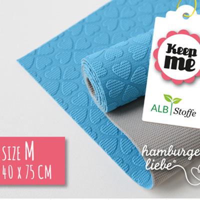 Keep ME's - Grösse M blau / grau 40 x 75 cm