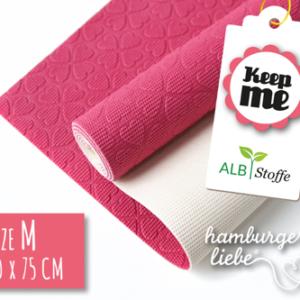 Keep ME's - Grösse M pink / weiss 40 x 75 cm