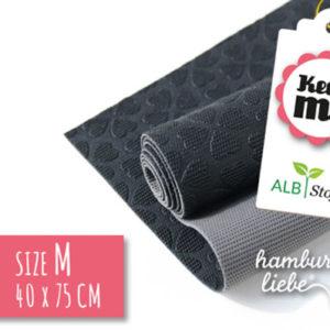 Keep ME's - Grösse M schwarz / grau 40 x 75 cm