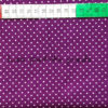 Baumwolle - Minipunkte lila / weiss