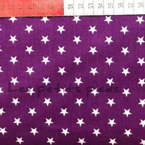 Baumwolle - Sterne lila / weiss