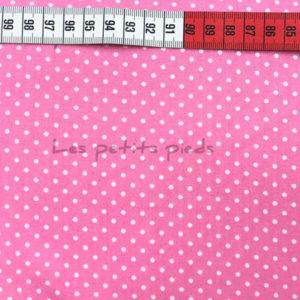 Baumwolle - Minipunkte rosa / weiss
