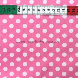 Baumwolle - Punkte rosa / weiss
