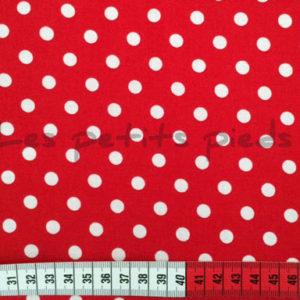Baumwolle - Punkte rot / weiss