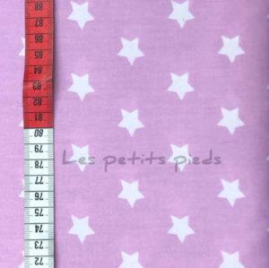 Baumwolle - Sterne rosa / leicht flieder