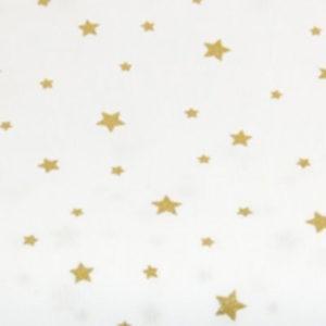 Baumwolle - Sterne weiss / gold