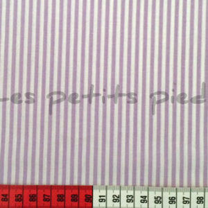 Baumwolle - Streifen flieder / weiss