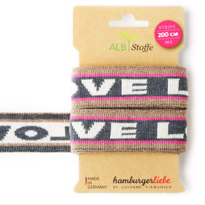 "Strickband - ""stripe me Glow Icon"" pink"