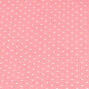 Baumwolle - Minipunkte coral / weiss