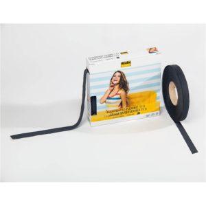 Nahtband Vlieseline flexibel T 15 - schwarz
