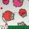 Baumwolle - Eulen weiss / pink