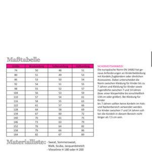 Papierschnittmuster Blazer Kinder Gr 74-164 - Fadenkäfer