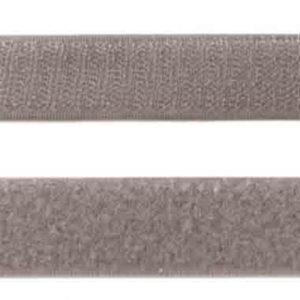 Klettband grau 25 mm