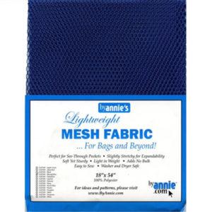 Mesh Fabric Taschennetz - blau