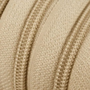 Reissverschluss 5 mm beige
