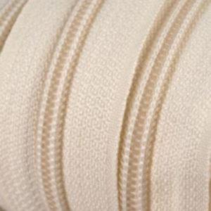 Reissverschluss 5 mm creme